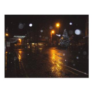 Crowborough festivo na neve cartão postal