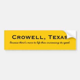 Crowell, Texas Adesivo Para Carro
