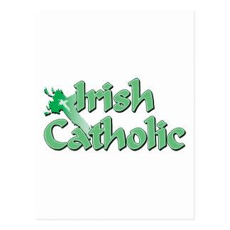 Cruz católica irlandesa cartão postal