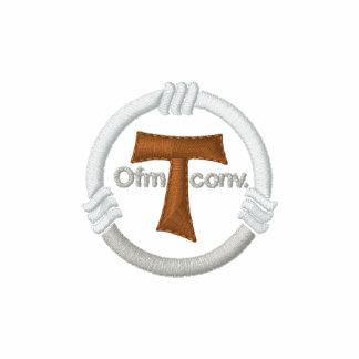 Cruz de tau e corda do franciscan camisa polo