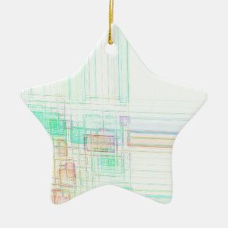 Cruz do norte recreada ornamento de cerâmica estrela