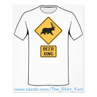 Cruzamento da cerveja dos cervos do urso modelo de panfletos