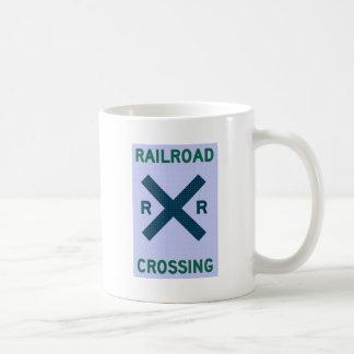 Cruzamento de estrada de ferro caneca