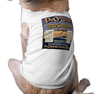 Cruzeiros do prazer de P&O - poster das viagens vi Camisa Sem Mangas Para Cachorro