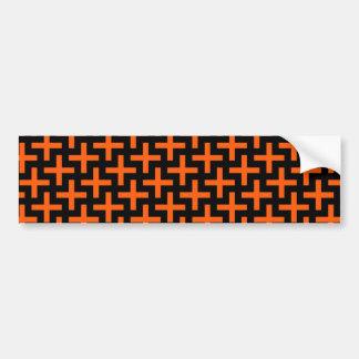 Cruzes alaranjadas e pretas do teste padrão mais adesivo para carro