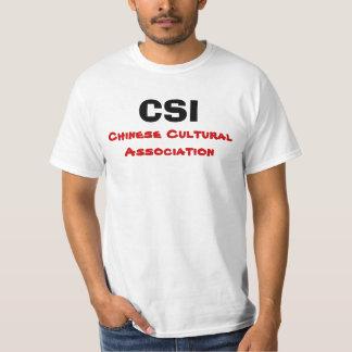 CSI, associação cultural chinesa T-shirts
