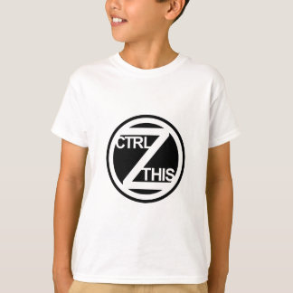 CTRL Z ESTE t-shirt da juventude