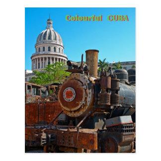 Cuba colorida cartão postal