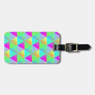 Cubos de estalo geométricos do bloco do arco-íris etiqueta de bagagem