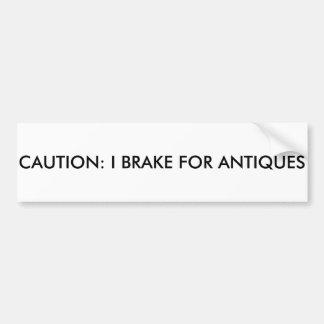 Cuidado: Eu travo para antiguidades Adesivo Para Carro