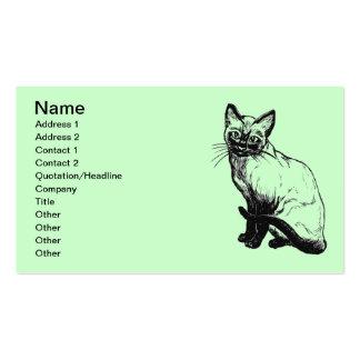 Cuidados dos animais de cartão de visita
