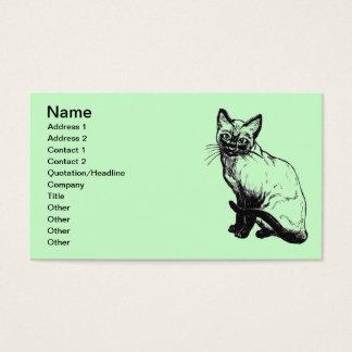 Cuidados dos animais de cartão de visitas