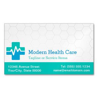 Cuidados médicos médicos modernos - azul verde