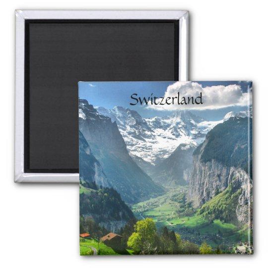 Cumes impressionantes da suiça do ímã do refrigera ímã quadrado