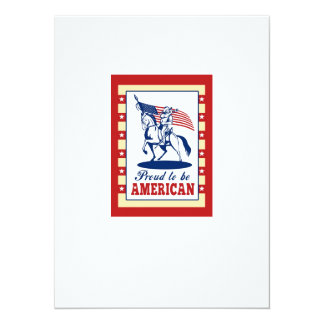 Cumprimento americano do poster do Dia da Convite Personalizados