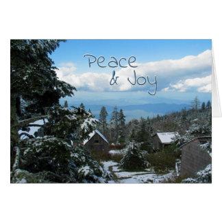 Cumprimento da paz & da alegria da parte superior cartão