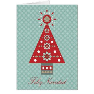 Cumprimento do sudoeste da árvore de Natal de Cartão Comemorativo