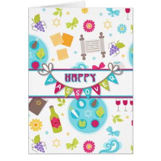 Cumprimento moderno colorido do Passover Cartão Comemorativo