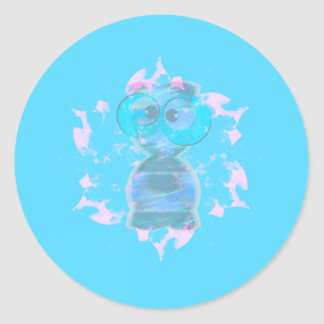 Cumprimentos | boas festas de uma alienígena adesivo