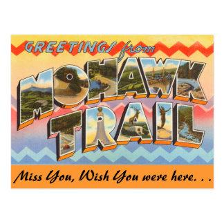 Cumprimentos da fuga do Mohawk Cartão Postal