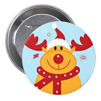 Cumprimentos da rena do Natal Boton