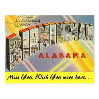 Cumprimentos de Birmingham Cartão Postal