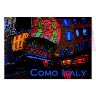 Cumprimentos de Como Italia Cartão Comemorativo