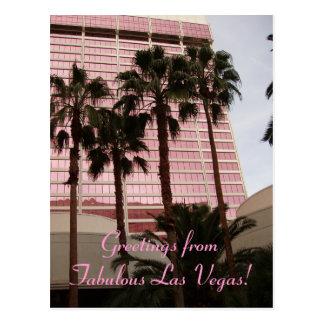 Cumprimentos de Las Vegas fabuloso! Cartão Postal