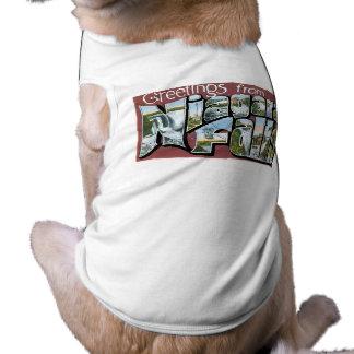 Cumprimentos de Niagara Falls! Camisa Sem Mangas Para Cachorro