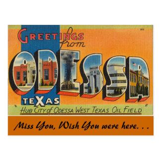 Cumprimentos de Odessa Cartão Postal