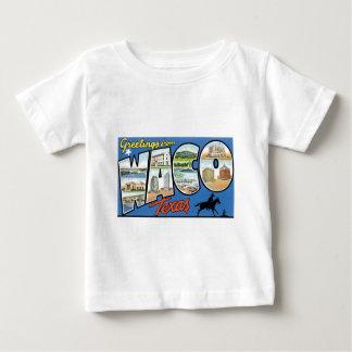 Cumprimentos de Waco, Texas! Cartão retro T-shirt