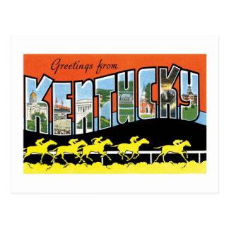 Cumprimentos do cartão do vintage de Kentucky