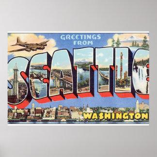 Cumprimentos do viagem de Seattle Pôster