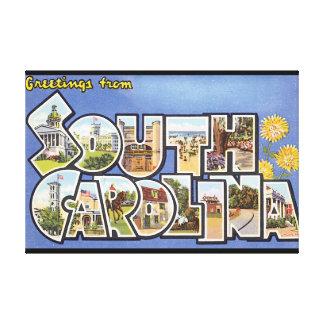 Cumprimentos do viagem sul de Carolina_Vintage