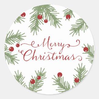 Cumprimentos verdes - etiqueta do Natal Adesivo