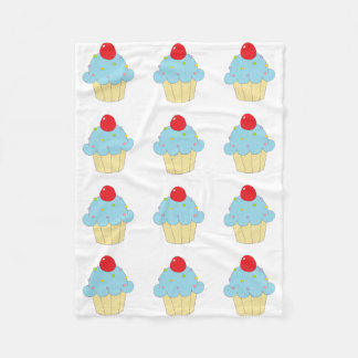Cupcake azul cobertor de lã