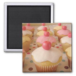\ cupcake bonito ímã quadrado