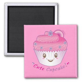 Cupcake bonito! ímã quadrado