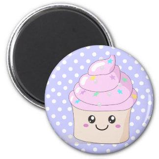 Cupcake bonito ímã redondo 5.08cm