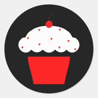 cupcake da cereja adesivo