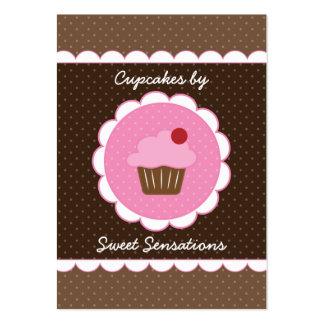 Cupcake da cereja carnudo cartão de visita grande