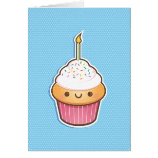 Cupcake de Kawaii Cartão Comemorativo