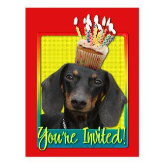 Cupcake do convite - Dachshund - Winston