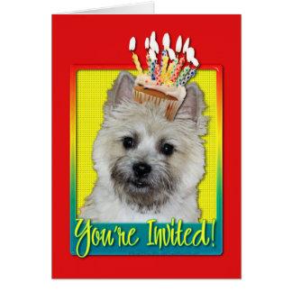 Cupcake do convite - monte de pedras Terrier -