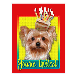 Cupcake do convite - yorkshire terrier