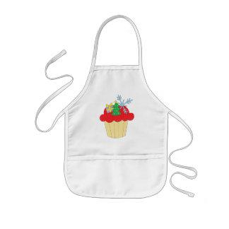 Cupcake do Natal Avental Infantil