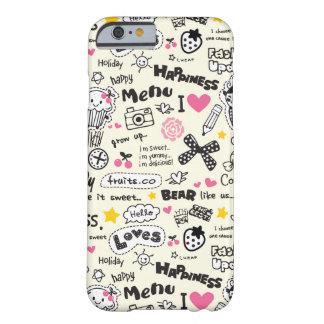 Cupcakes, arcos, corações, teste padrão feminino capa barely there para iPhone 6