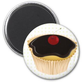Cupcakes bonitos ímã redondo 5.08cm