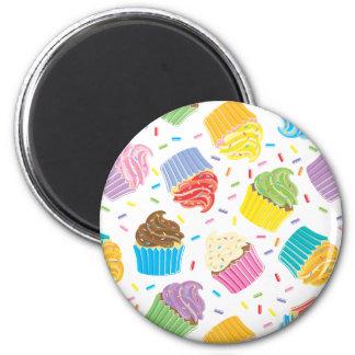Cupcakes coloridos imans