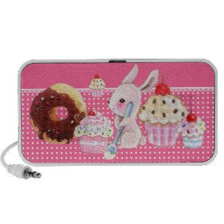 Cupcakes de Kawaii e coelho bonito - auto-falante  Caixinhas De Som Para Pc